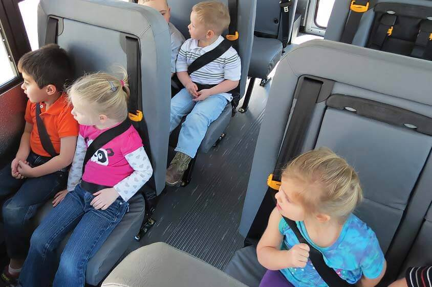 bus collins commercial seats buses wheelchair ford seating transit safety comfortable shuttle brochure fleet